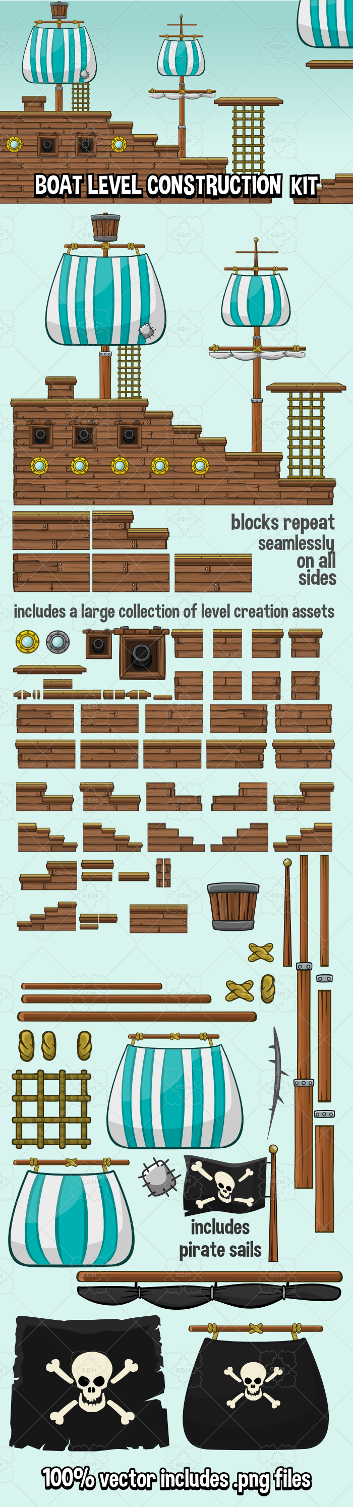 Ship level construction kit