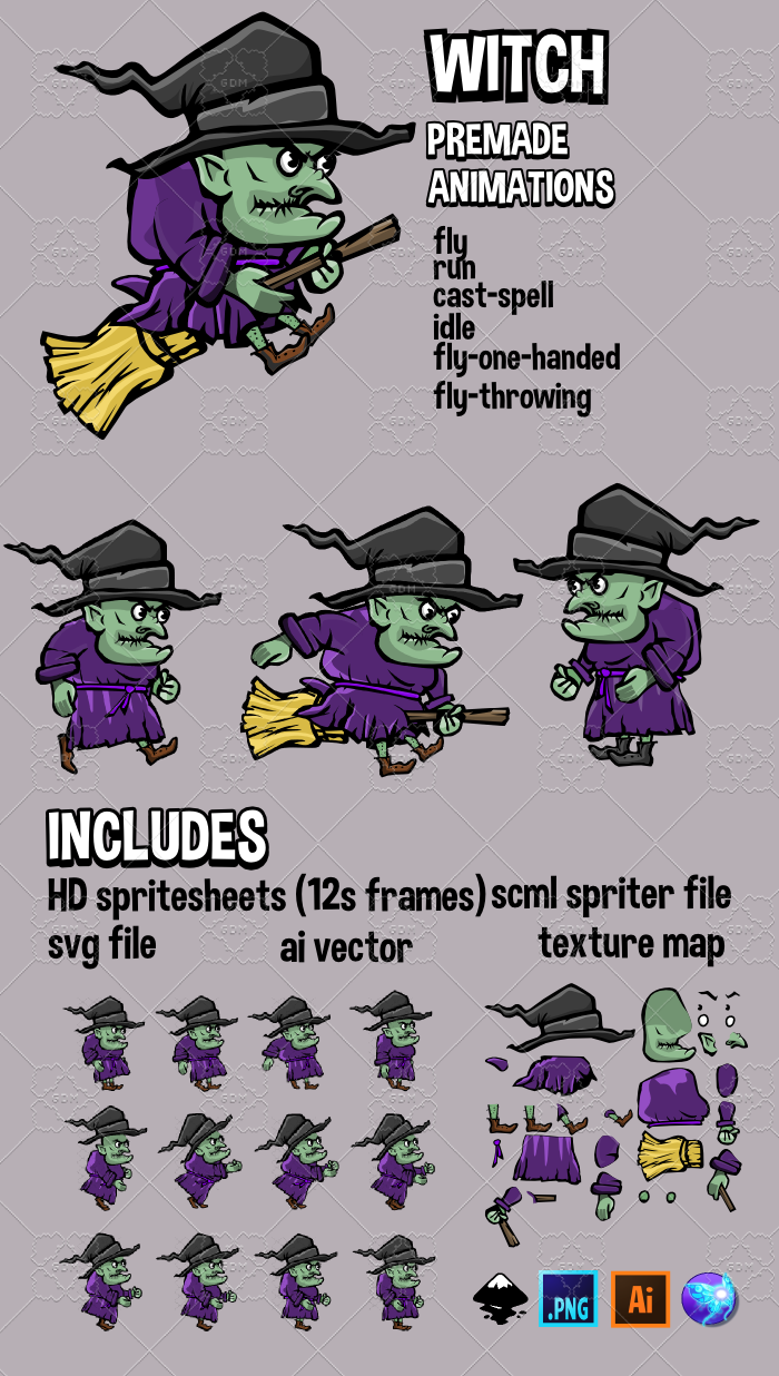 Animated Witch