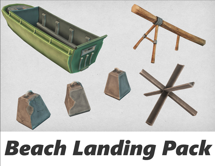 Cartoon Beach Defense Pack