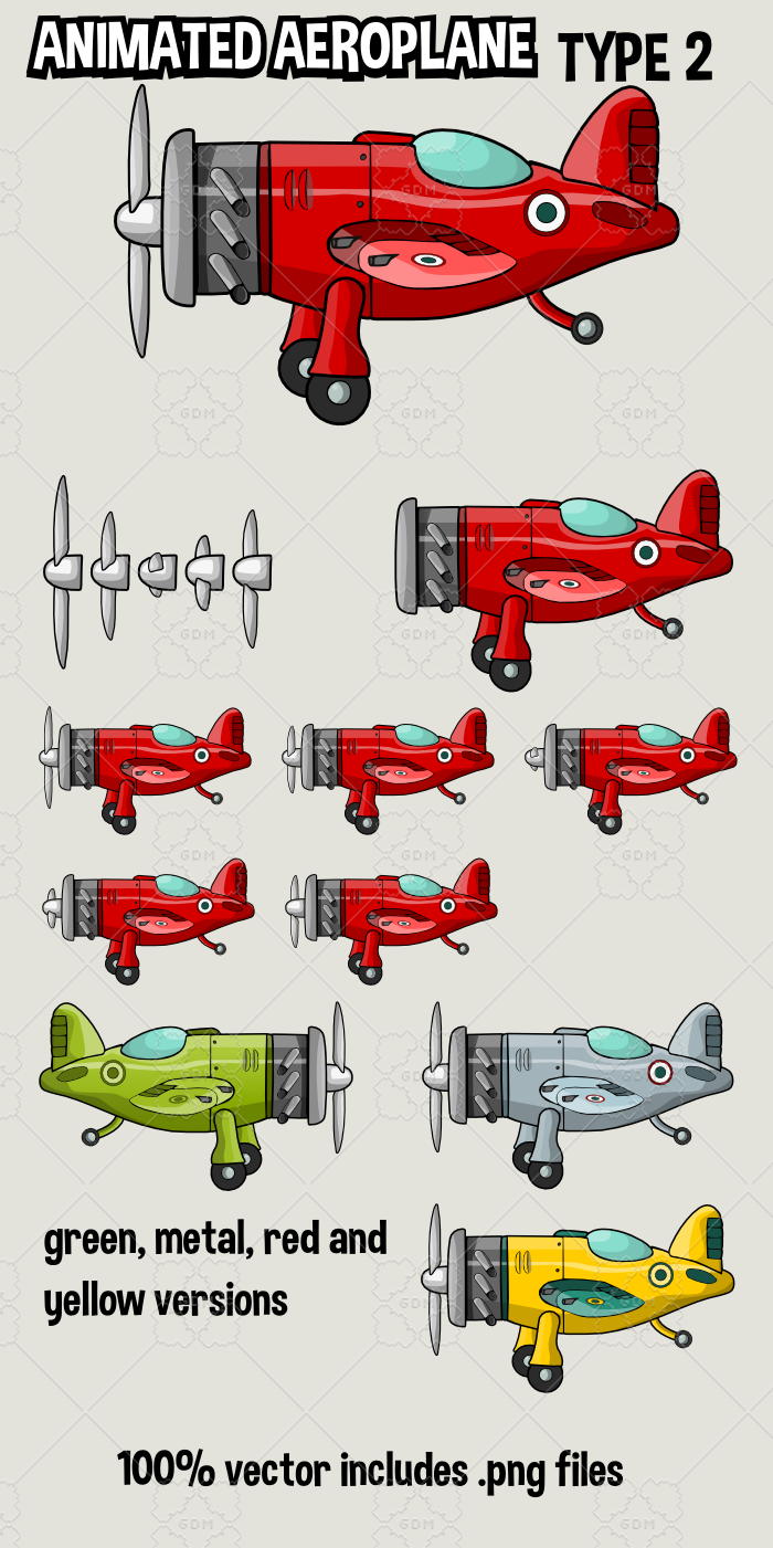 animated aeroplane