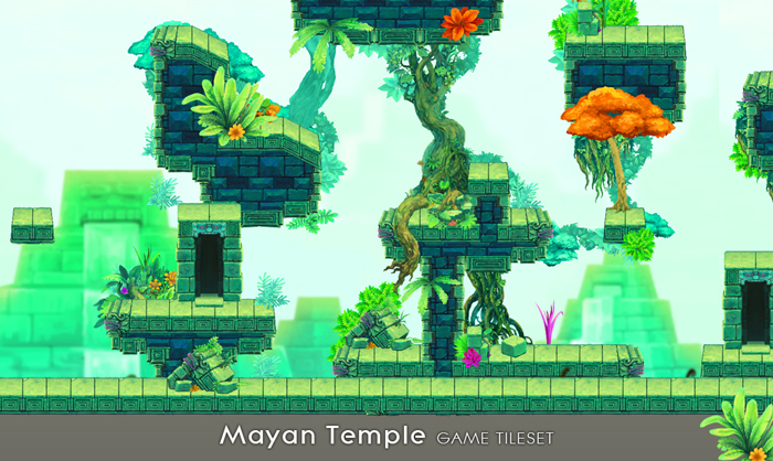 Mayan Temple – Game Tileset