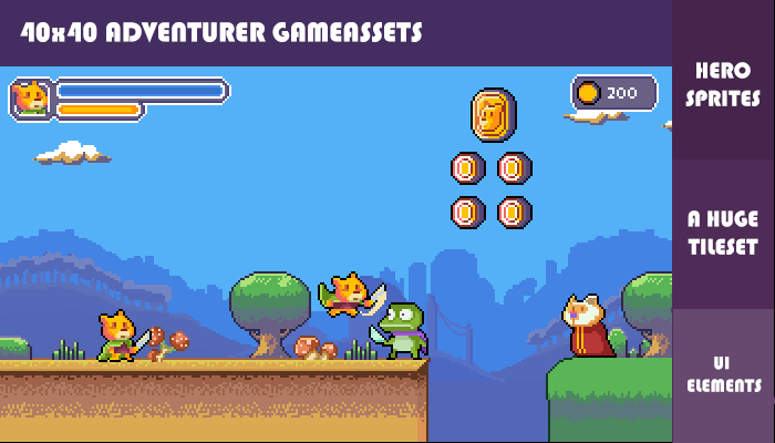 2D adventurer gameassets