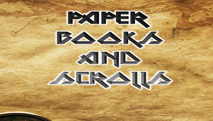 Game Paper, Books, And Scrolls