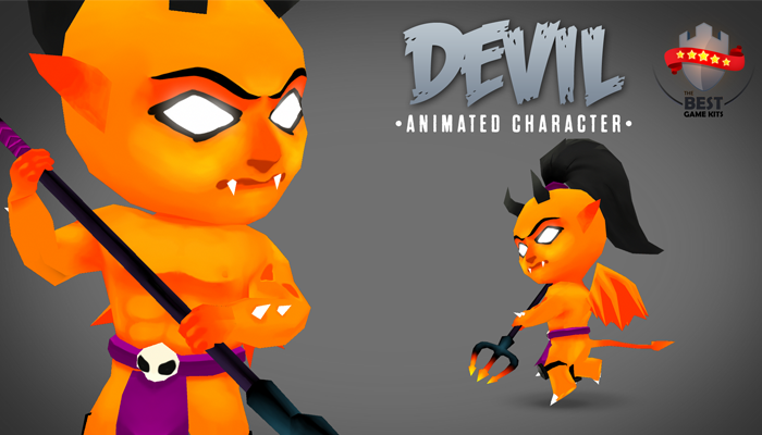 Devil 3D animated character