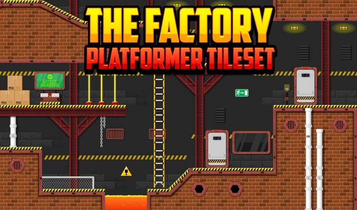 The Factory – Platformer Tileset
