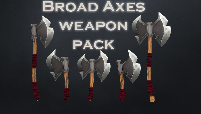 Broad axes weapon pack