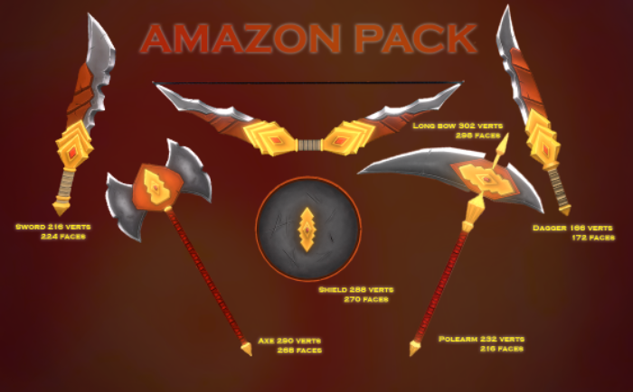 Amazon weapon pack