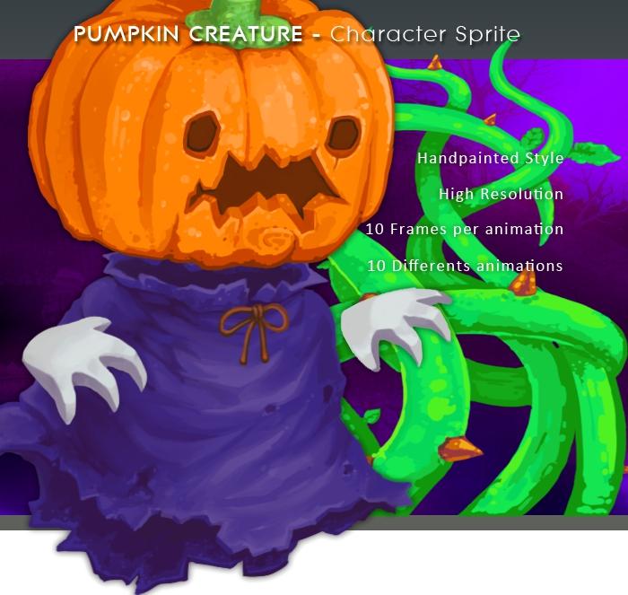 Pumpkin Creature – Character Sprite