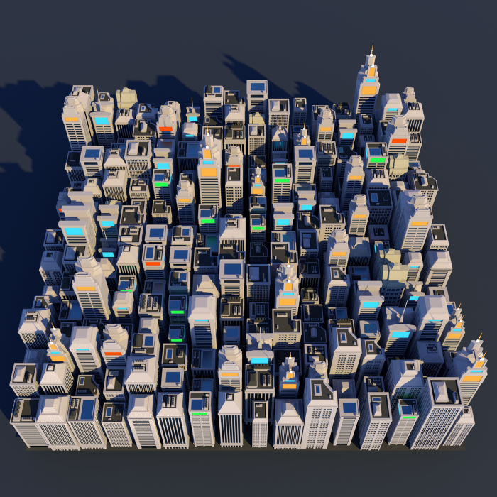 Low Poly City Megapack