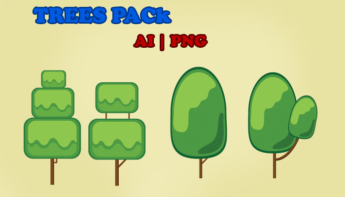 2d Vector Trees Pack