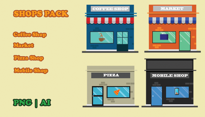 2d Vector Shops Pack