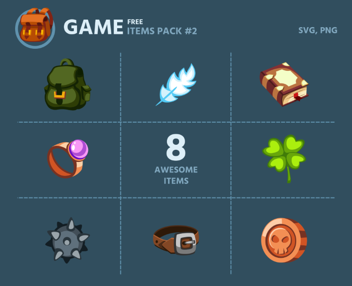 Free Game Items Pack 2