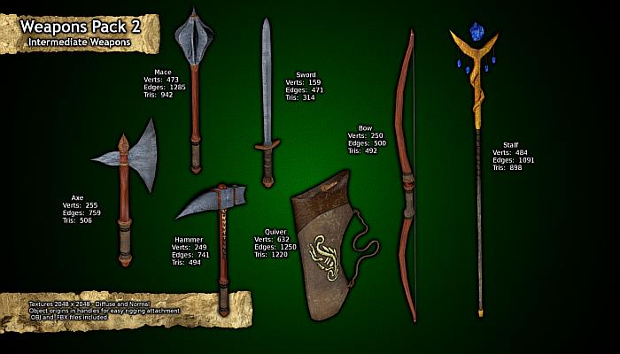 Intermediate Weapons – Weapon Pack 2