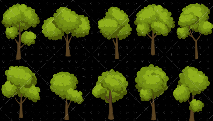 Tree and Bush set 2