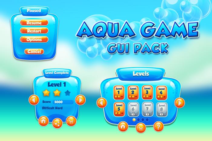 Aqua style GUI pack