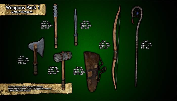 Simple Weapons – Weapon Pack 1