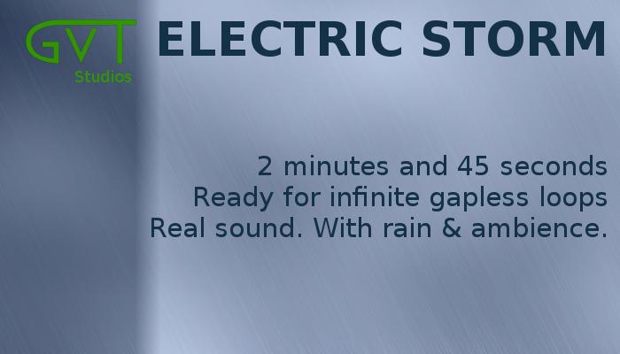Rainy electrical storm