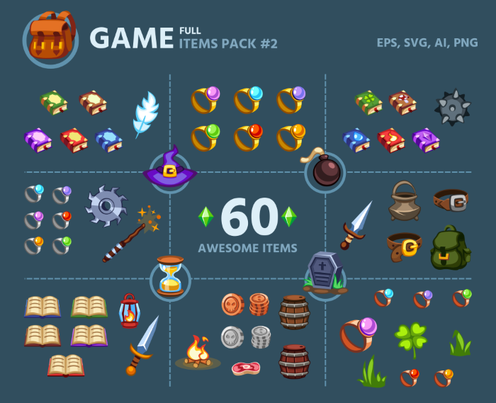 GAME ITEMS PACK 2
