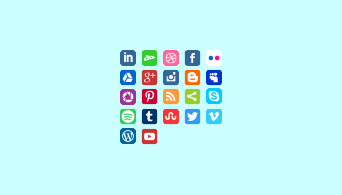 Animated Social Media Icons
