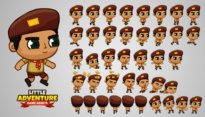 Indonesian Boy-scout Game Sprites
