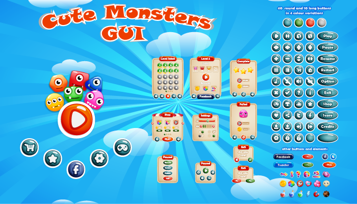 Cute Monsters GUI
