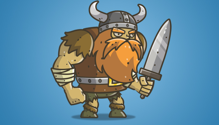 Chibi Muscular Viking