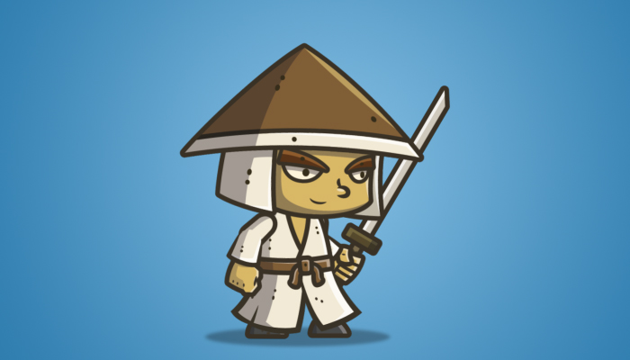 Chibi Samurai 01 – Conical Hat