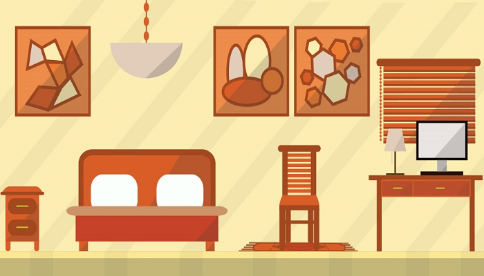 Bedroom vector art