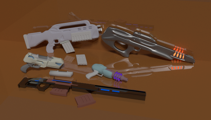 Sci-fi Faction Weapons Pack