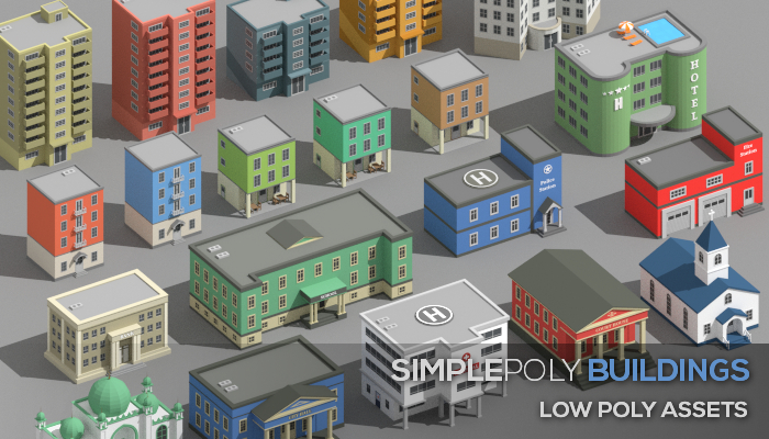 SimplePoly Buildings – Low Poly Assets