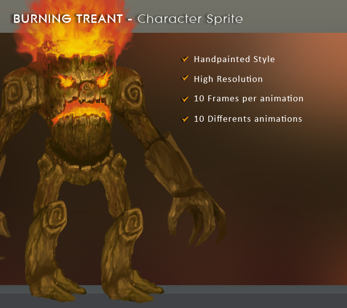 Burning Treant – Character Sprite