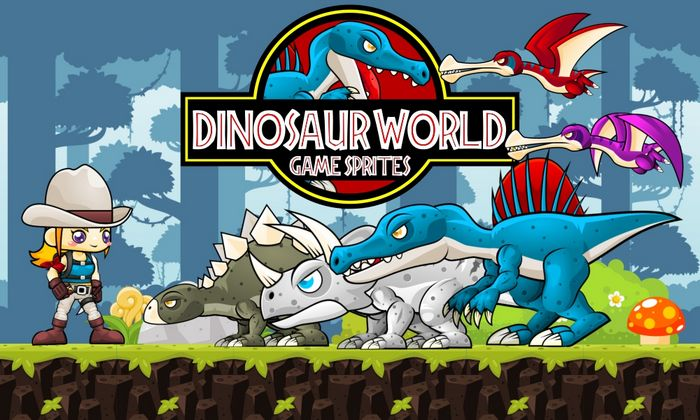 Dino World – Game Sprites