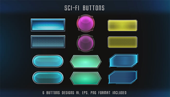 Sci-Fi Buttons