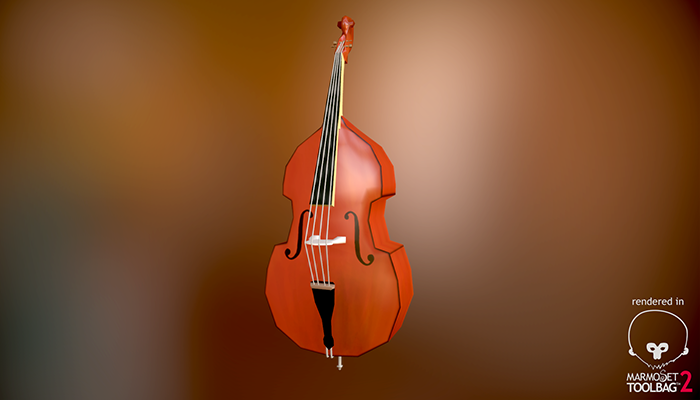 Lowpoly Double Bass