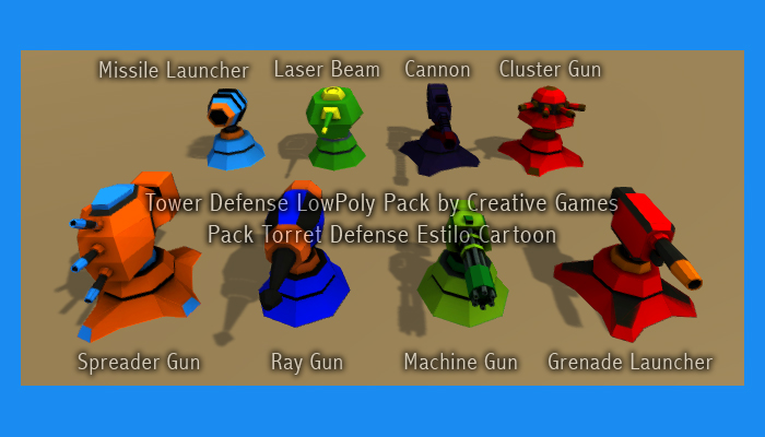 Turrets Pack Toon Style