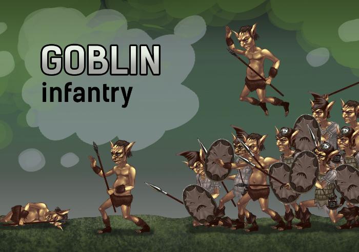 2d goblin characters set