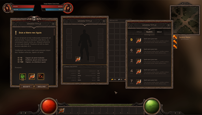 RPG and MMO UI 3