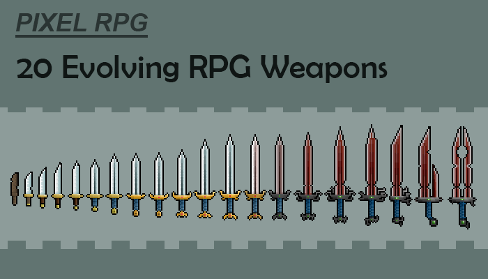 20 Evolving Pixel Weapons