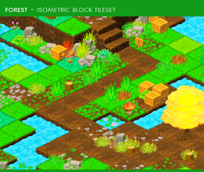 Forest – Isometric Block Tileset