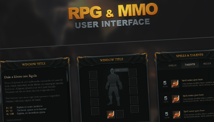 RPG and MMO UI