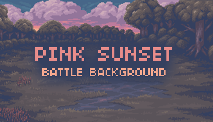 Pink Sunset – Battle Background