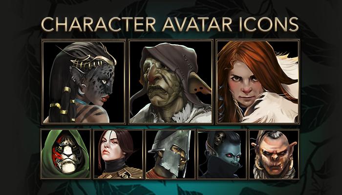 Fantasy-RPG Character Avatar Icons
