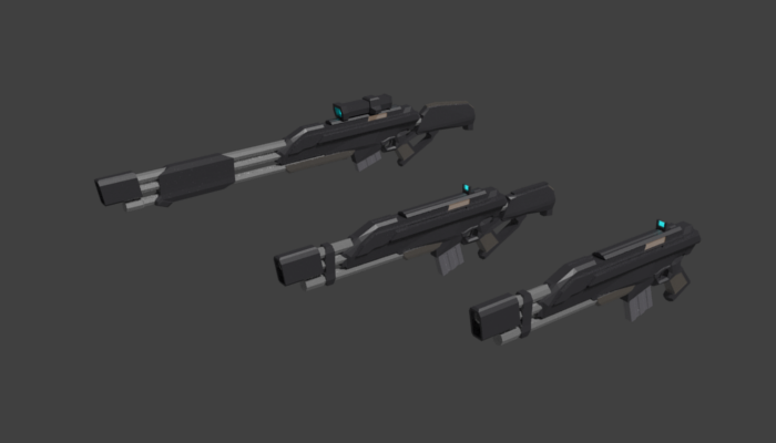 Sci-fi 3 Rifle Pack