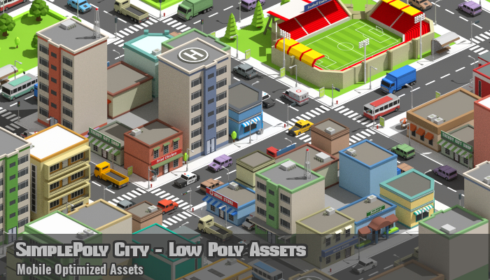 SimplePoly City – Low Poly Assets