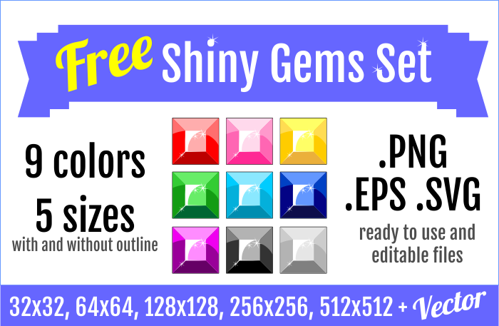 Free Shiny Gems Set