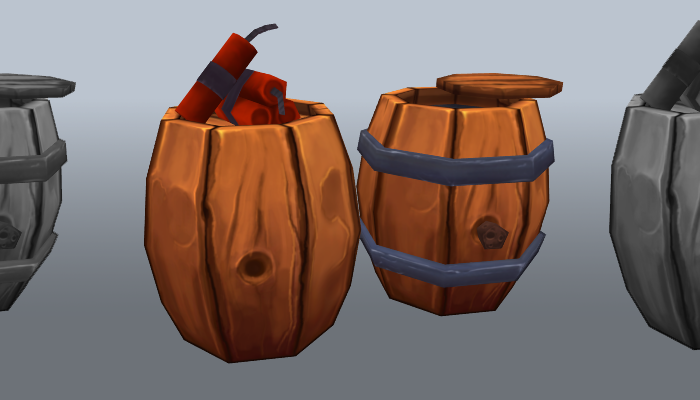 Low-poly explosive barrel