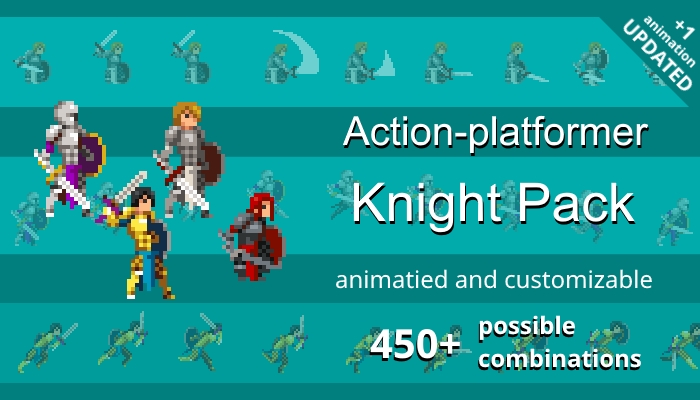 Action-platformer Knight Pack