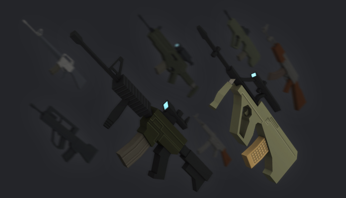 PACK: Very Simple Assault Rifles