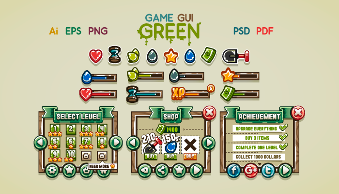 Game GUI Green