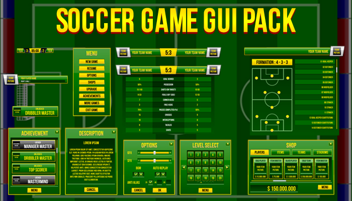 Soccer Game GUI Pack